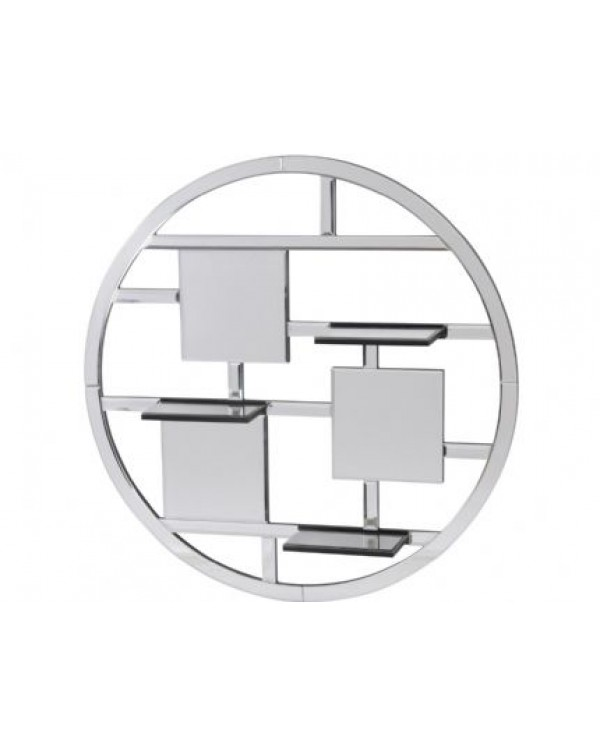 Libra Blakely Round Mirrored Shelf